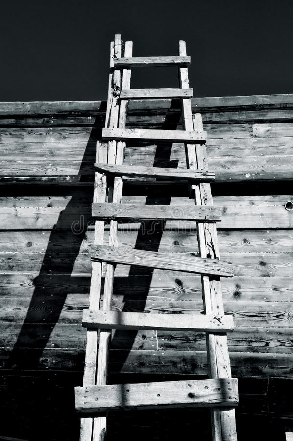 Grungy Ladder & Shadows royalty free stock photography