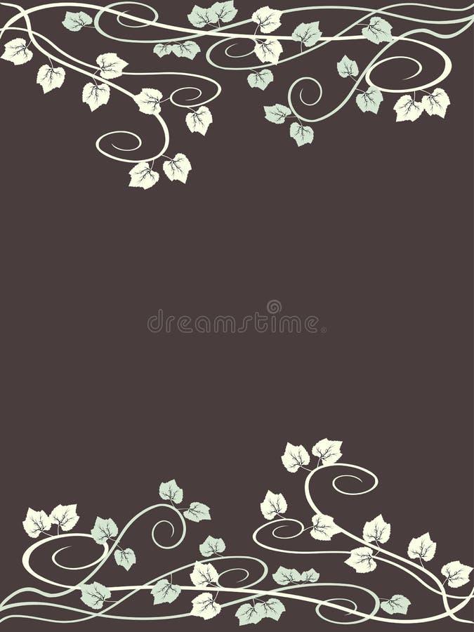 grungy leaf för bakgrundsdruva vektor illustrationer