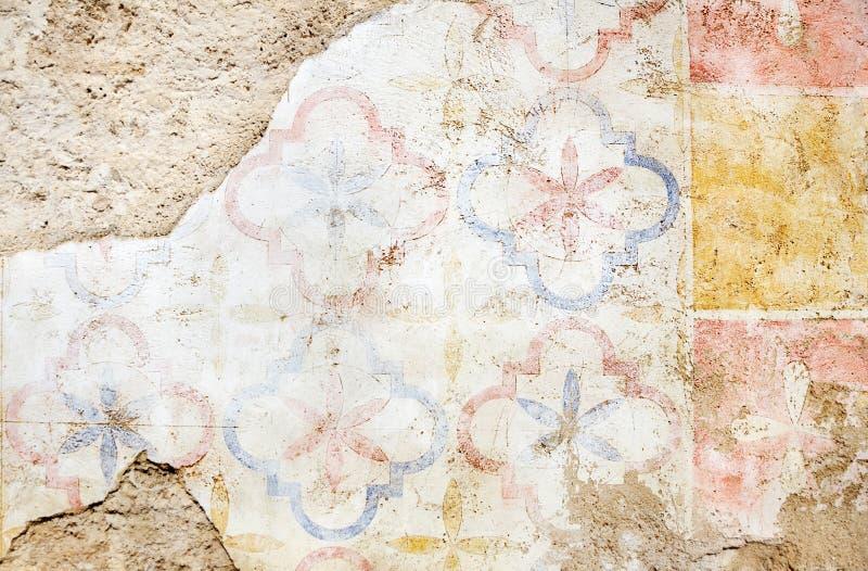 grungy målad vägg royaltyfria foton