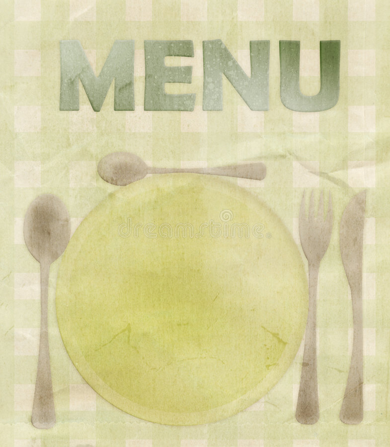 Grungy Menu Card royalty free stock photography