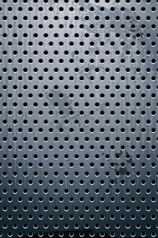 Grungy metal texture royalty free illustration
