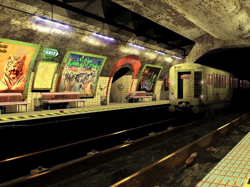 Grungy metro royalty-vrije illustratie