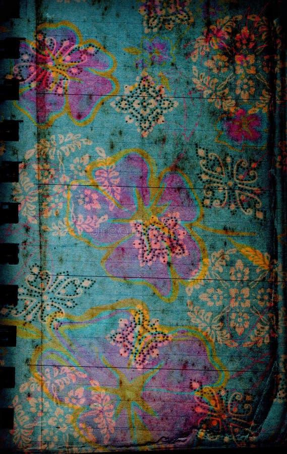 Grungy mit Blumenhintergrund lizenzfreie abbildung