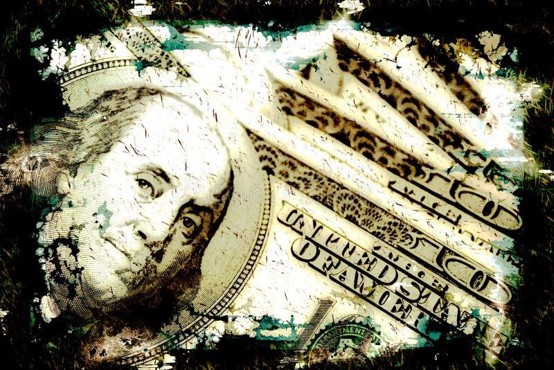 Grungy Money Background stock illustration