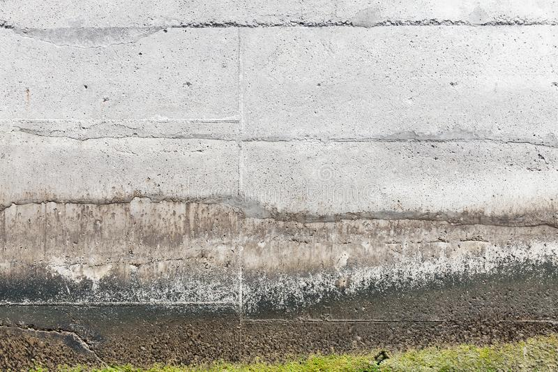 Mooring wall made of gray concrete. Grungy mooring wall made of gray concrete, background photo texture royalty free stock photo