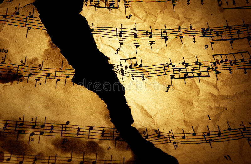 Download Grungy musical background stock image. Image of ancient - 9063389