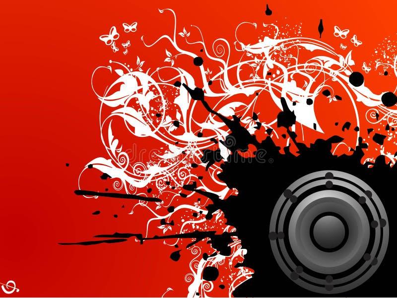 Grungy Musik vektor abbildung