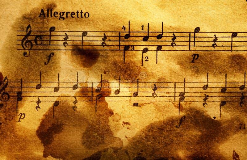 Grungy musikalischer Hintergrund lizenzfreie stockbilder