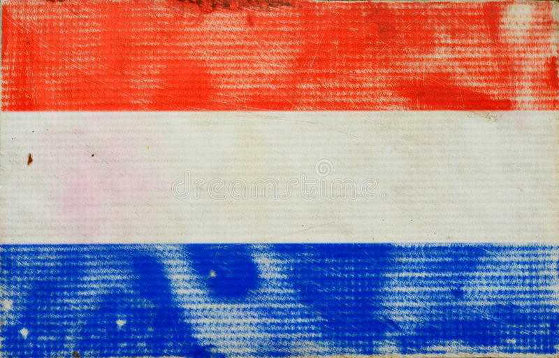 Grungy Nederlandse Vlag stock afbeelding