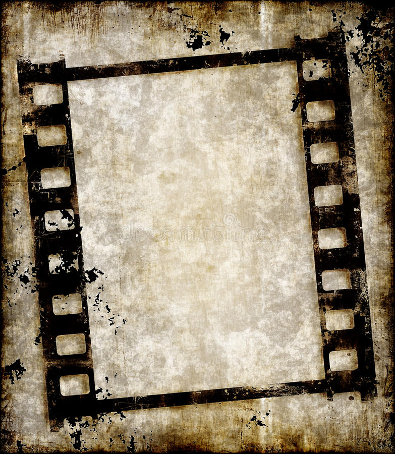 Grungy negatieve filmstrook of foto vector illustratie