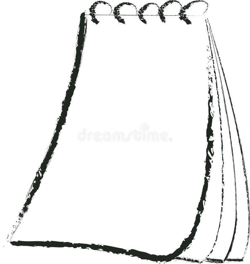 Grungy notepad obraz stock