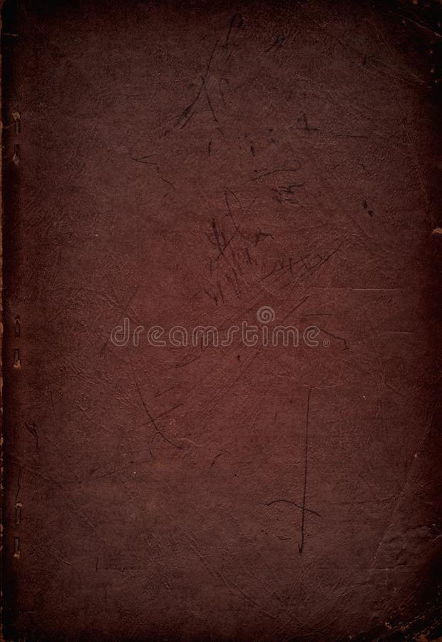 Grungy Old Hymnal Book Cover from 1939 stock photography