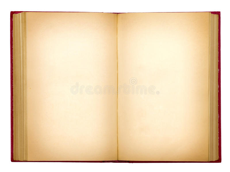 Grungy old open book royalty free stock images