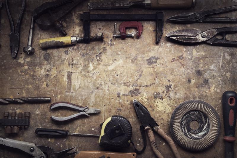Download Grungy old tools stock image. Image of adjustable, manual - 114726863