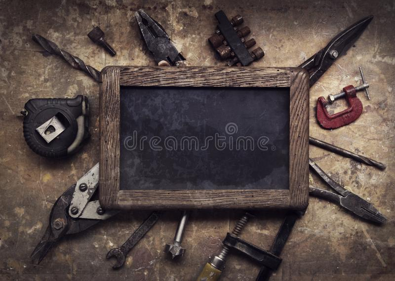 Download Grungy old tools stock image. Image of garage, repairing - 114726927