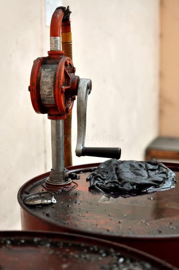 Grungy olje- vals royaltyfri bild