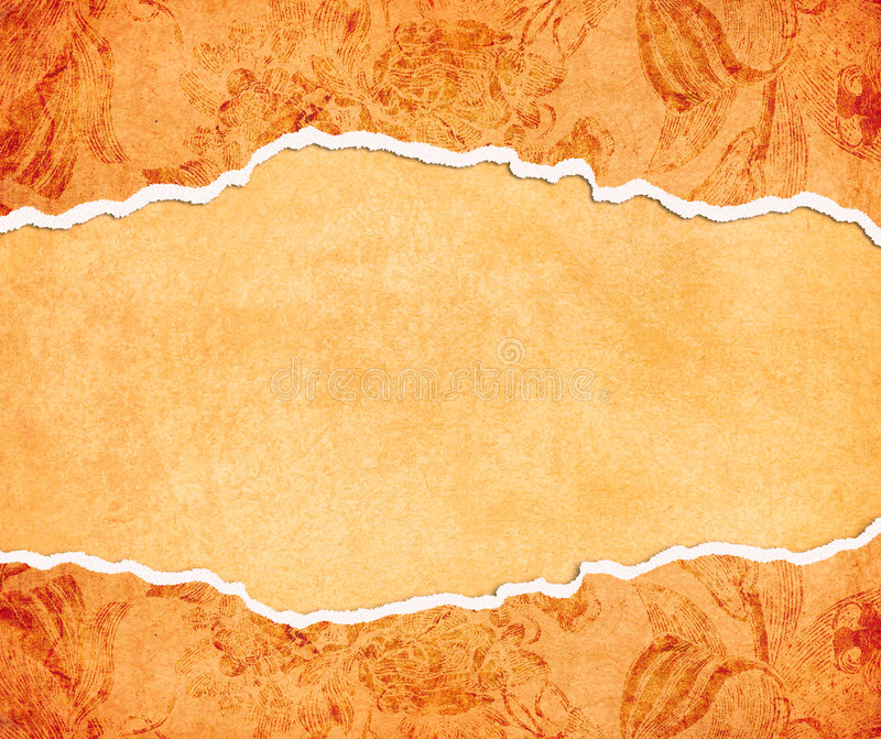 Grungy orange papers stock illustration