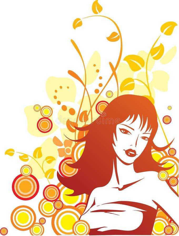 Grungy orangy vector illustration