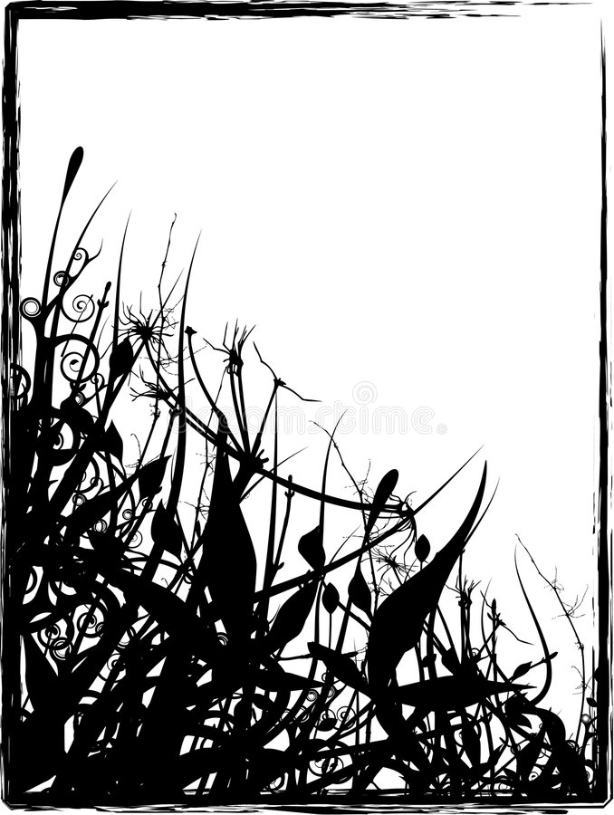 Download Grungy Organic Frame stock illustration. Image of painting - 2315311