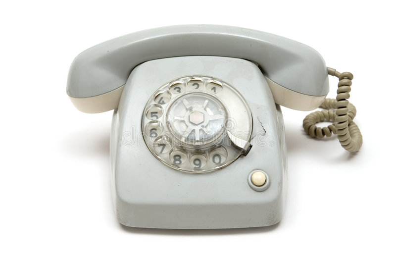 Grungy Oude Telefoon stock fotografie