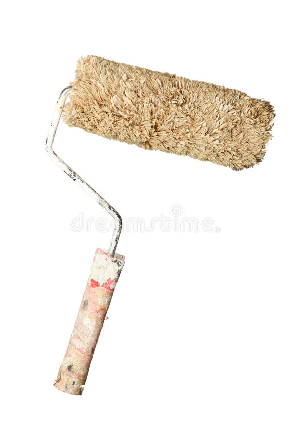 Download Grungy paint roller stock photo. Image of tool, renovation - 24146830