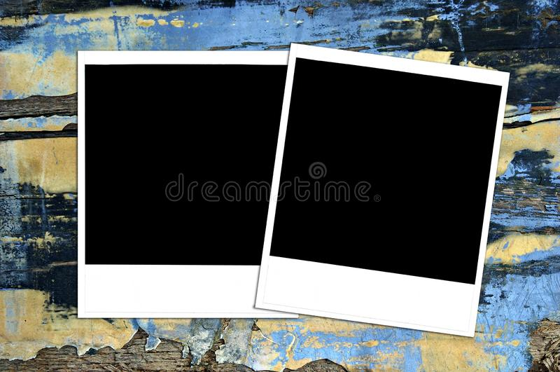 Download Grungy Painted Texture With Instant Photos Stock Image - Image of paint, wood: 7838561
