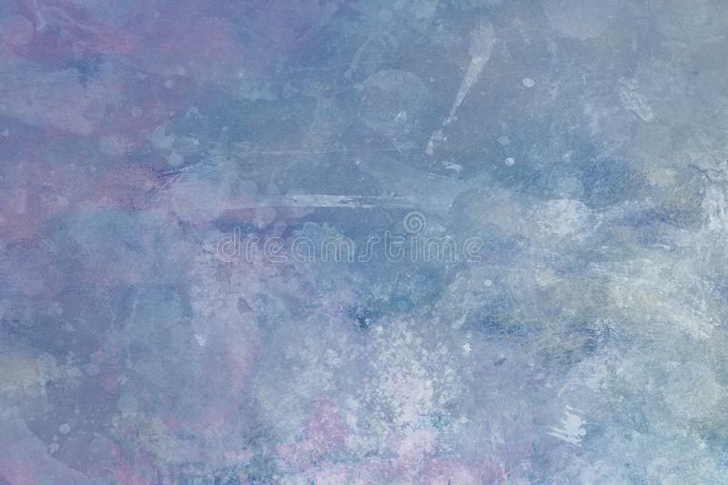 Grungy painting background. Pale blue and purple stained abstract background or royalty free stock photos