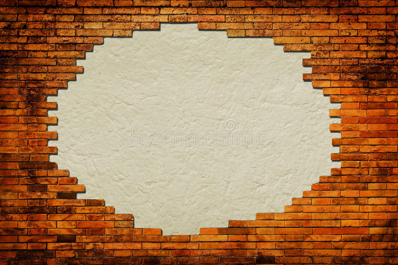 Download Grungy Paper Background Surrounded By Brick Frame Stock Image - Image: 27013861