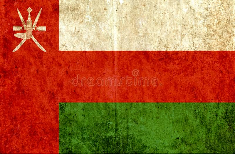 Grungy paper flag of Oman vector illustration