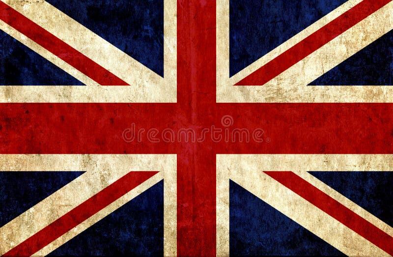 Grungy Papierflagge von Großbritannien stock abbildung