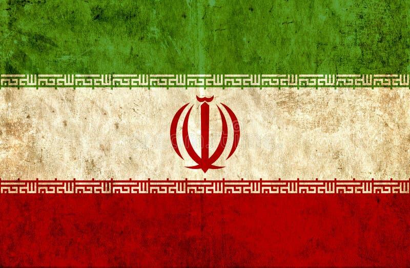 Grungy pappers- flagga av Iran vektor illustrationer