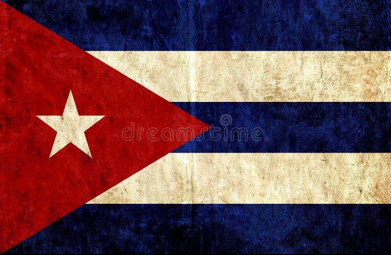 Grungy pappers- flagga av Kuban stock illustrationer