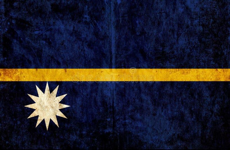 Grungy pappers- flagga av Nauru vektor illustrationer