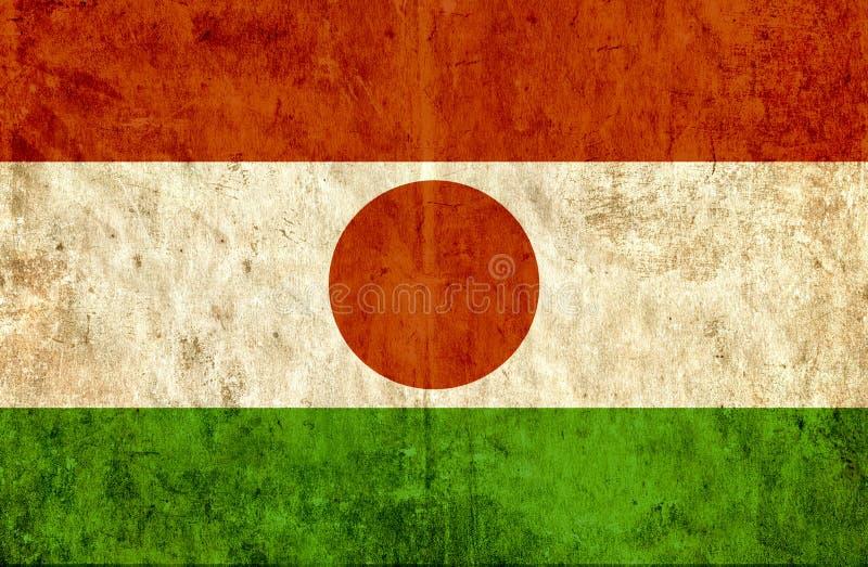 Grungy pappers- flagga av Niger vektor illustrationer