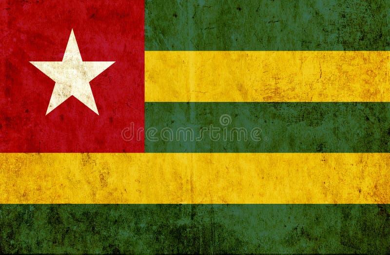 Grungy pappers- flagga av Togo vektor illustrationer