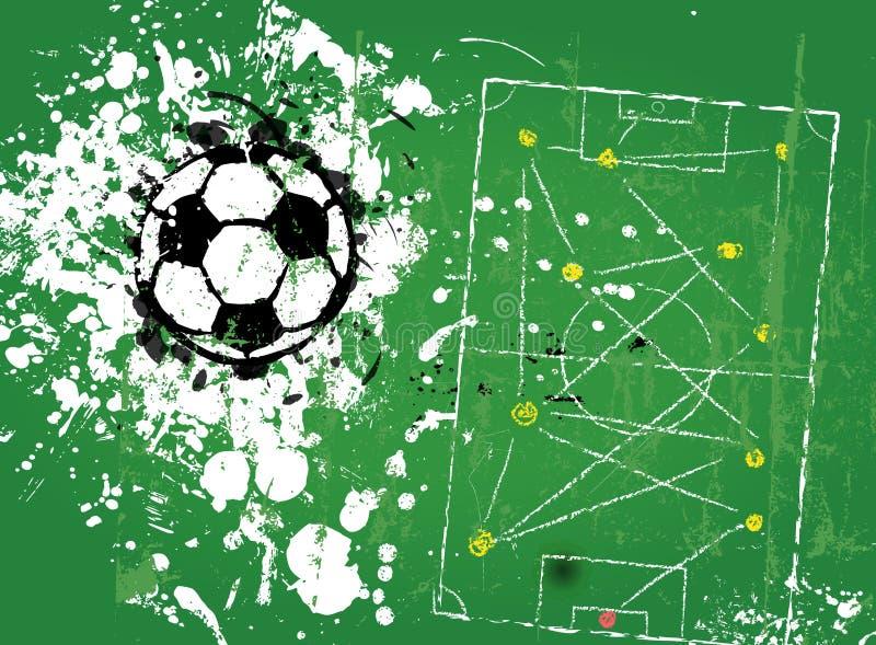 Grungy piłka nożna futbol, ilustracji