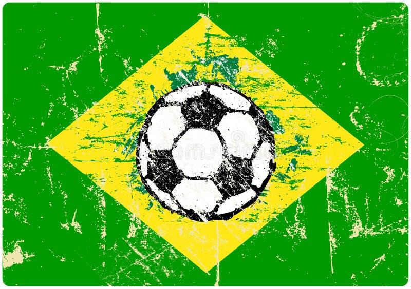 Grungy piłka nożna znak royalty ilustracja