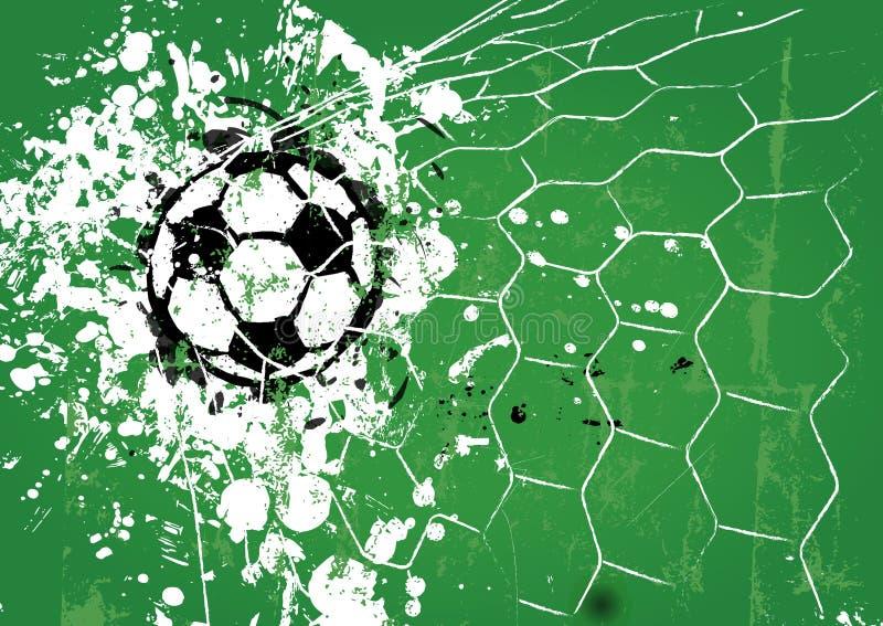 Grungy piłki nożnej piłka ilustracja wektor