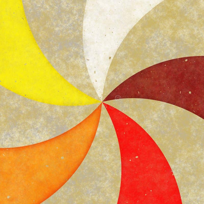 Grungy Pinwheel promienie ilustracja wektor