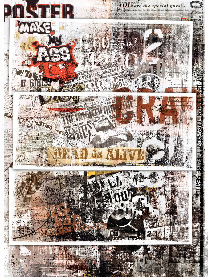 Grungy poster art royalty free illustration