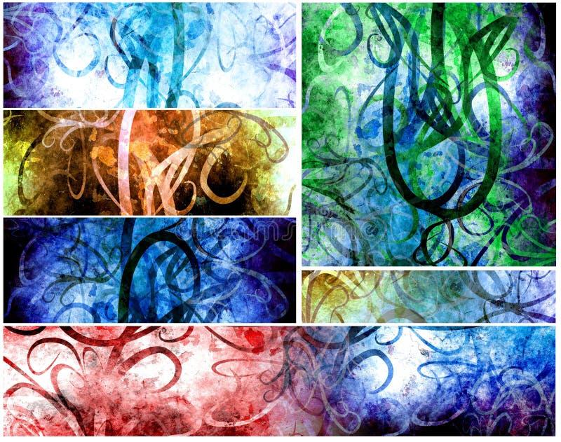 Grungy psychedelische Hintergründe lizenzfreie abbildung
