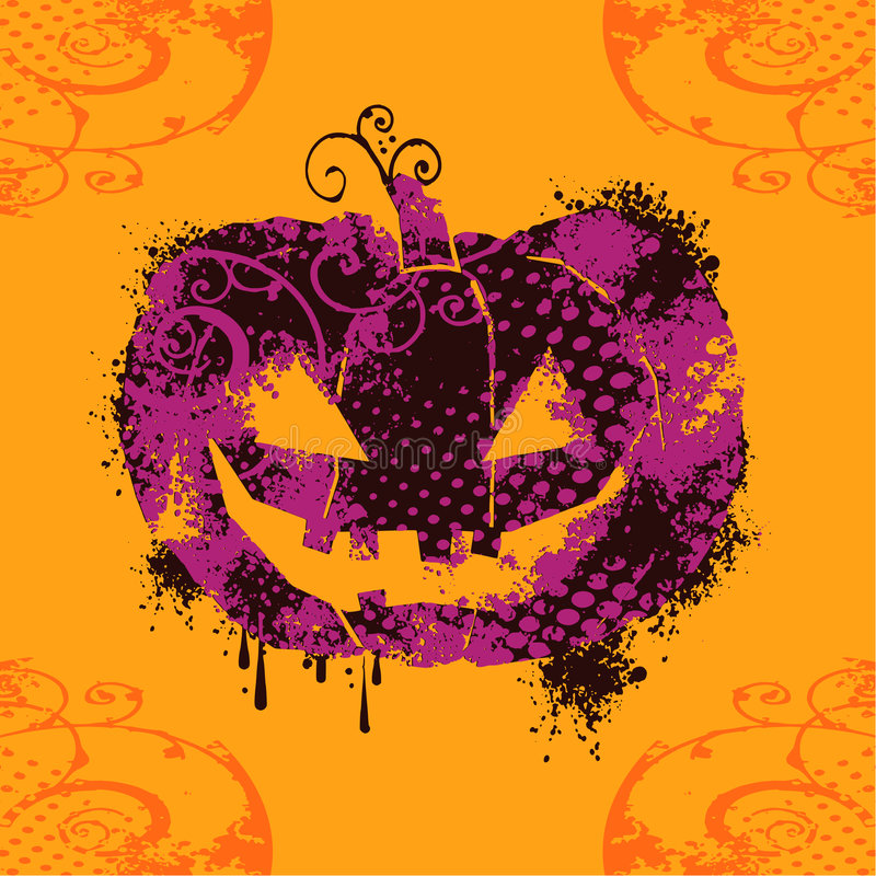 Grungy pumpkin royalty free illustration