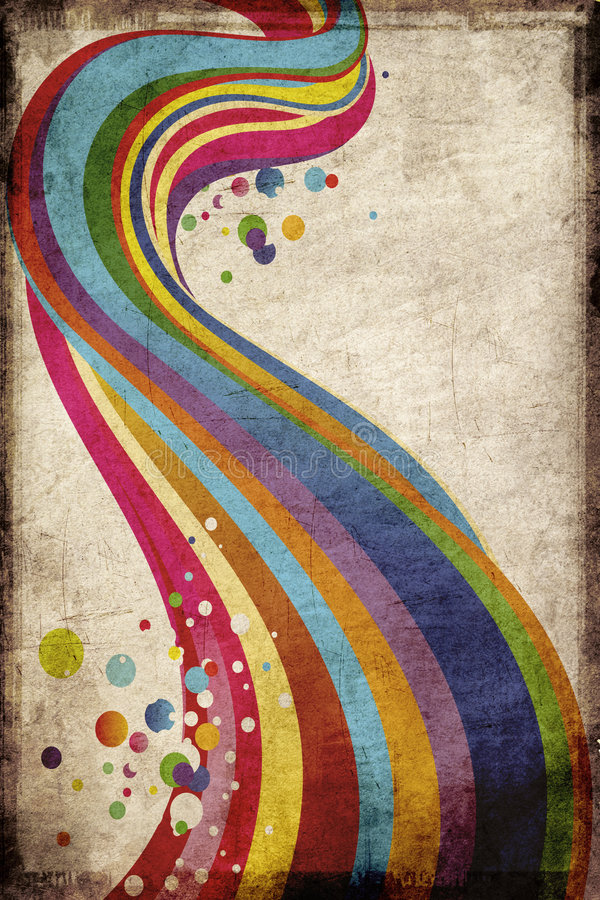 Grungy rainbow vector illustration