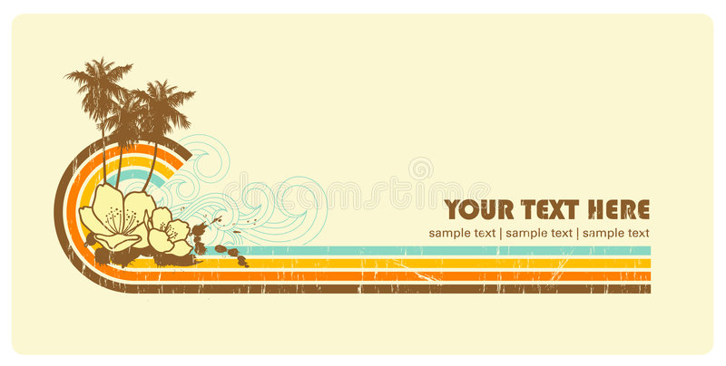 Grungy retro-banner stock illustratie
