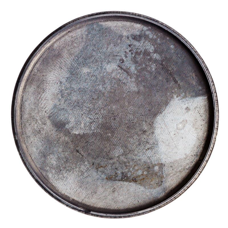 Grungy ronde metaalplaat stock fotografie