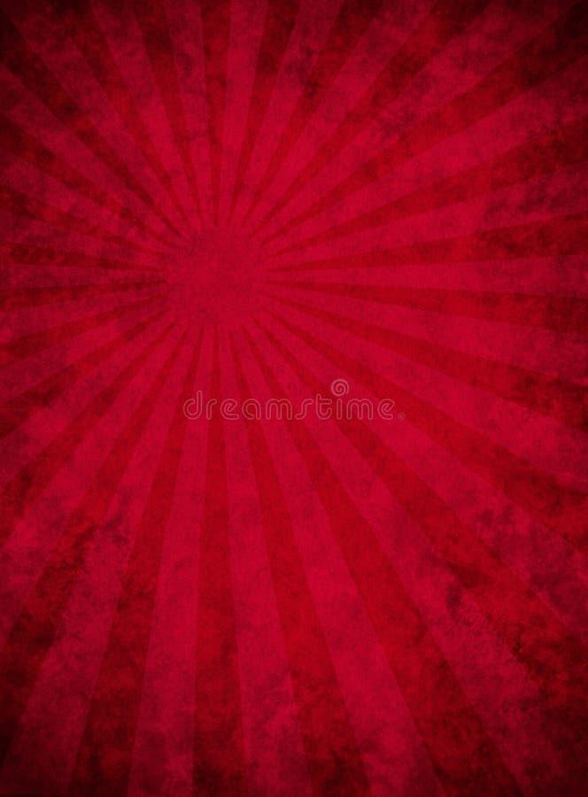 Grungy Rood Document met het Patroon van de Lichtstraal vector illustratie