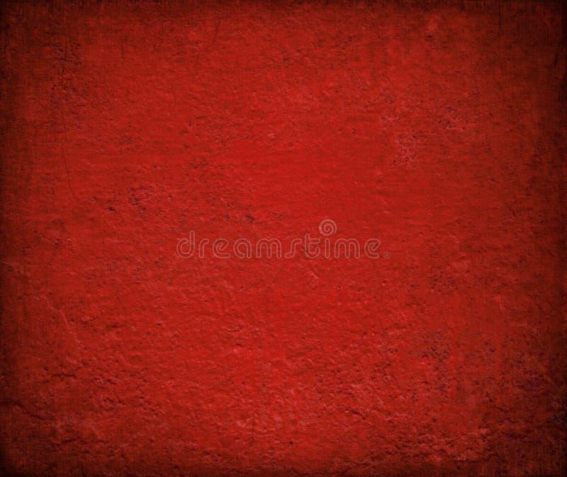 Grungy rood polijst geschilderde muurachtergrond royalty-vrije stock afbeelding