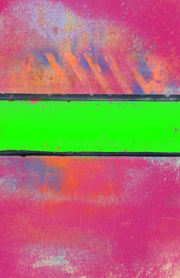 Grungy Roze Achtergrond met Zure Groene Streep royalty-vrije stock fotografie