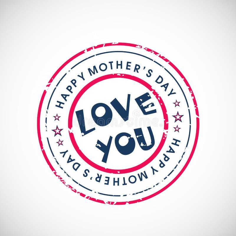 De gelukkige viering van de Dag van Moeders. royalty-vrije illustratie