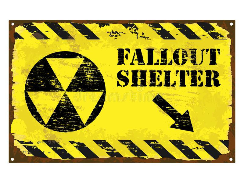 Fallout Shelter Sign Stock Vector Illustration Of Ancient 102735377
